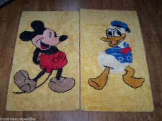 Vintage Disney Mickey Mouse Donald Duck Rugs