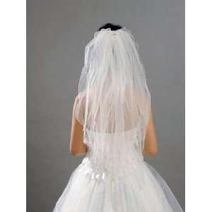 Artwedding 2T Rhinestone Elbow Wedding Bridal Veil,Ivory Beauty