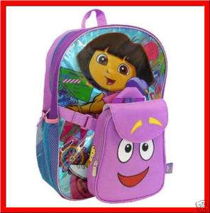 DORA EXPLORER LARGE Backpack book +Lunch Box Bag *NEW*