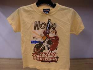 Redwood Harley Davidson Youth Yellow Tee NEW Holiday