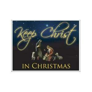 Keep Christ in Christmas Lawn Display   Yard Decoration