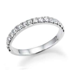 Wedding Band 14k White Gold   Free Resize Natural Diamond Jewelry