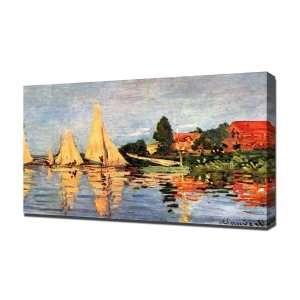 Claude Monet 0007   Canvas Art   Framed Size 20x30   Ready To Hang