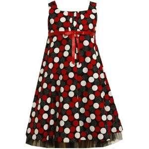 Ashley Ann Girls Sleeveless Dots Printed Dress, size 7