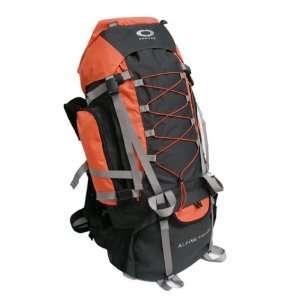Internal Frame Hiking Backpack Travel Bag   Orange