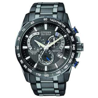 NEW CITIZEN ECO DRIVE MENS PERPETUAL CHRONOGRAPH A T WATCH AT4007 54E