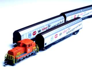 VW Audi Logistical Transport Train w/ Diesel loco switcher & cars