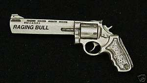 Empire Pewter Taurus Raging Bull Revolver Pewter Pin
