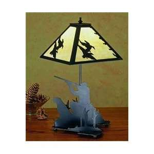 15.5H Duck Hunter W/Dog Accent Lamp Home Improvement