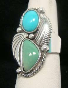 POLLACK RELIOS 925 TOURQUOISE RING SIZE 7 STERLING SILVER 11.3g
