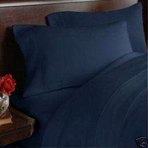 300TC Full/Queen Duvet Comforter Cover set Solid Navy