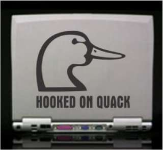 Hooked on Quack Duck Hunt Die Cut Vinyl Decal Sticker