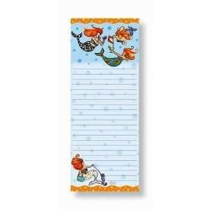 Magnetic Note Pad Mermaid Siren of Sea Party Girls Office
