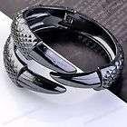 1x Black Grey Punk Rock Spike Eagle Claw Bangle Bracelet Fashion