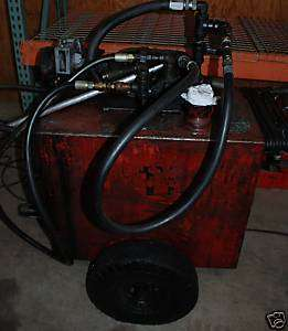 60 GALLON OIL TRANSFER PUMPING STATION CART 115 Volt