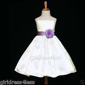 WEDDING STRAPS BRIDESMAID FLOWER GIRL DRESS 12M 18M 2/2T 4 6 8 10 12