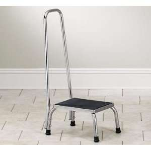 CLINTON STAINLESS STEEL STOOLS Step stool w/ handrail Item