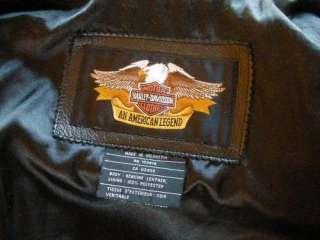 XL Harley Davidson Black Leather Motorcycle Jacket FAB!!