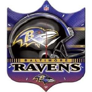 Baltimore Ravens Nfl High Definition Plaque Clock Sports