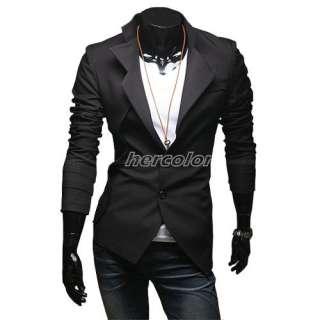 2012 Korean mens fashion double collar jacket coat Slim classic short