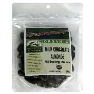 Woodstock Farms Almonds, Milk Chocolate, 7 Ounce (Pack of