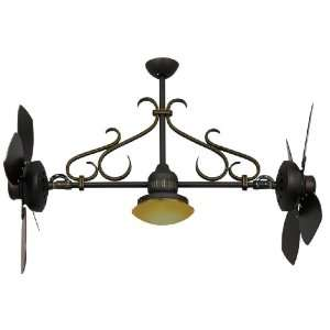 Typhoon 26 Adjustable Dual Ceiling Fan with Light Kit Finish Oil