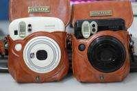Fuji Instax Mini 50S 25 Camera Leather Case Bag Brown