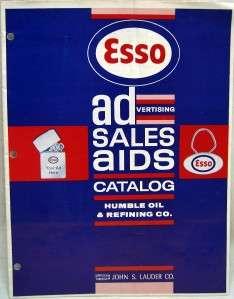 ESSO OIL ADVERTISING SALES CATALOG BROCHURE GUIDE 1960s VINTAGE GAS