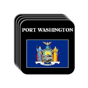US State Flag   PORT WASHINGTON, New York (NY) Set of 4 Mini Mousepad