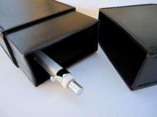 MUJI REAL LEATHER STATIONERY CASE TRINKET BOX BLACK