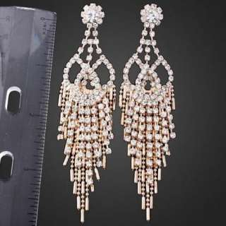 ARINNA HOT Swarovski Crystal 18K gold GP pierce Earring