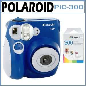 Instant Analog Camera in Blue with Polaroid PIF 300 Instant Film