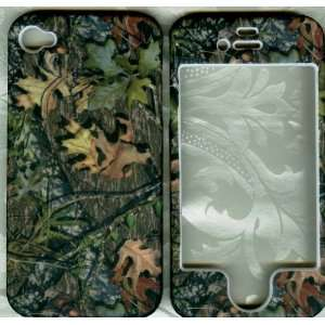 Dry leaves camo rubberized apple iPhone 4 4G faceplate
