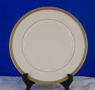 RANSGIL LAUREL DINNER PLATE GOLD ENCRUSTED 1/4 RIM Fine China