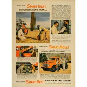 1949 Ad Ford Truck Pickup F7 George Failing Oil Driller