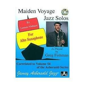 Vol. 54 Maiden Voyage Alto Sax Solos Musical Instruments