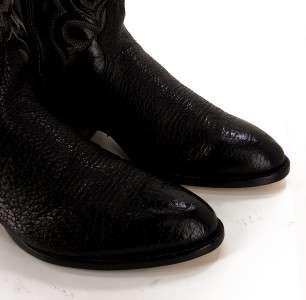 62F Mens Tony Lama 6903 Black Bullhide Foot Embroidered COWBOY BOOTS