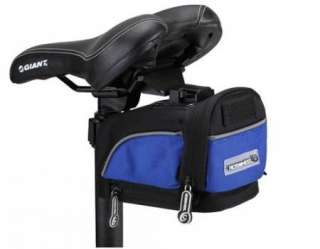 Bike Bicycle outdoor saddle seat Quick Release Bag Blue waterproof