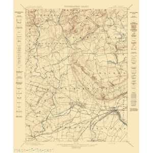 USGS TOPO MAP SOMERVILLE QUAD NEW JERSEY (NJ) 1898 Home