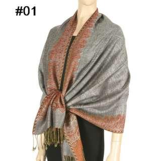 Cashmere Silk Wool Pashmina Scarf Shawl Wrap Cape 030s