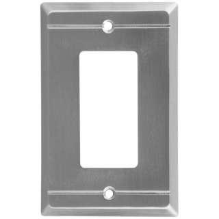 Stanley Franklin Single Rocker Wall Plate Satin Nickel 033923803045
