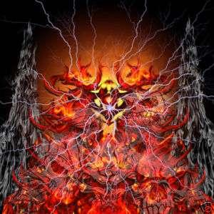 Fireball Lightning Ghost Skull vinyl wrap decal sticker