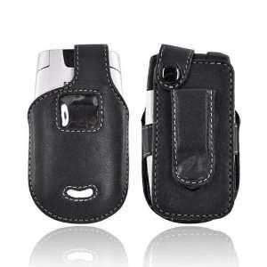 BLACK For Premium Motorola V365 Leather Case Cover Clip