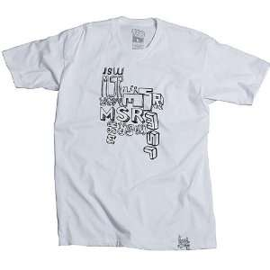 MSR Racing Clutter Youth Boys Tee Casual Shirt   White