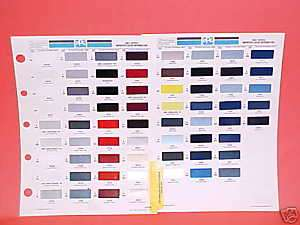 1991 TOYOTA PAINT CHIPS COLOR CHART GUIDE BROCHURE 91