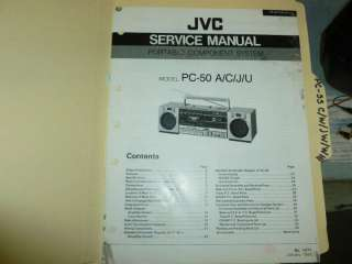JVC PC 50 Short Wave Radio  1985  ORIG SERVICE MANUAL