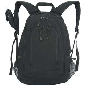 BLACK PADDED HIMALAYAN LAPTOP BACKPACK   18 x 12 x 9, School Work Bag