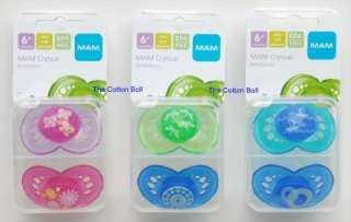 NEW MAM Baby Pacifiers BOY GIRL 6 M+ Butterfly/Sailboat