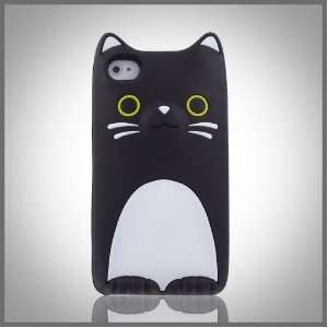 Flexa by CellXpressionsTM Black & White Kitty Cat silicone