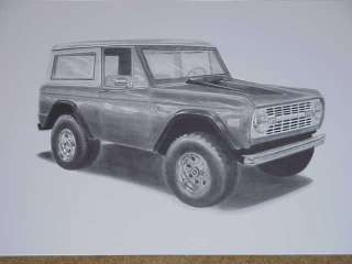 EARLY FORD BRONCO LIMITED EDITION ARTWORK   SIGNED!!